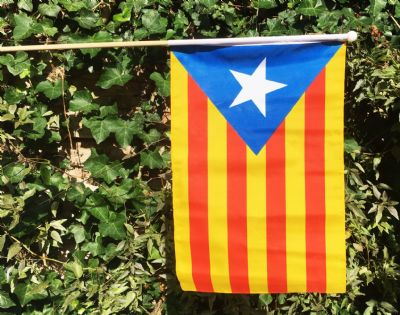 HAND WAVING FLAG - CATALAN INDEPENDENCE